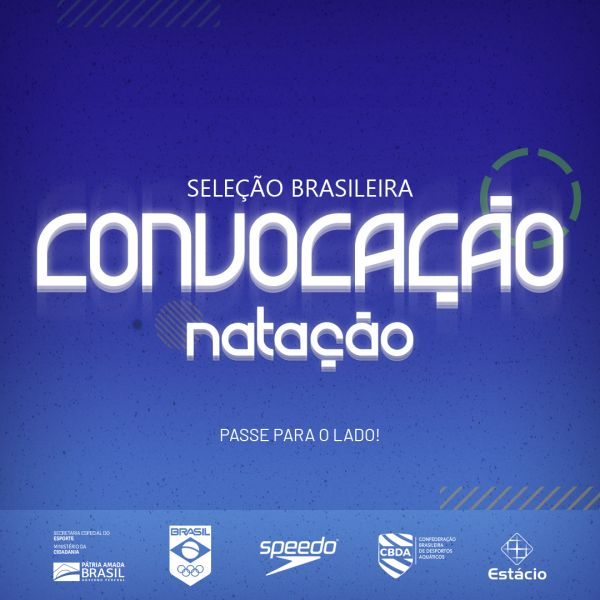 Natação - Com jovens talentos, CBDA convoca seleção brasileira de Natação para o Sul-Americano