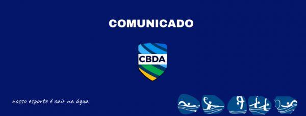 Comunicado - Alteração de local - Seletiva Brasileira de Maratonas Aquáticas