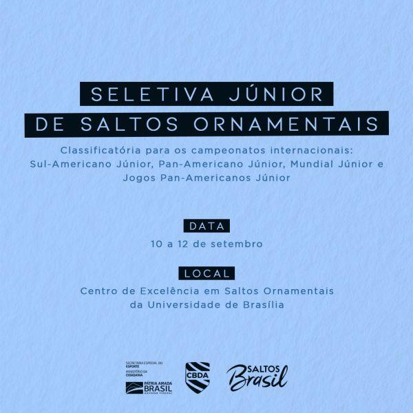 Seletiva Junior de Saltos Ornamentais define quatro seleções em Brasília