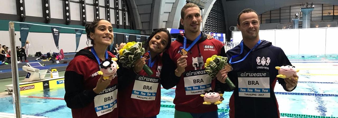 Brasil conquista prata e bronze no primeiro dia da Copa do Mundo de Tóquio