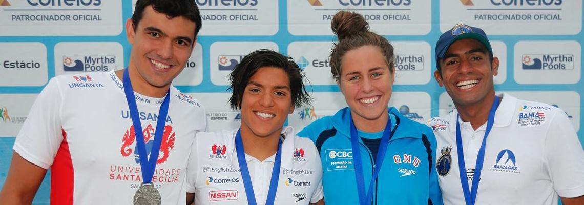 Ana Marcela supera campeã olímpica e vence Troféu Brasil - Maria Lenk; Allan do Carmo é campeão no masculino
