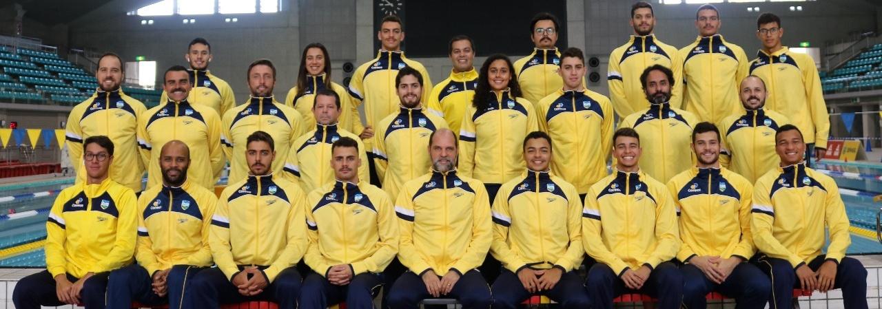 Seleção brasileira de Natação faz aclimatação antes da disputa do Pan-Pacífico