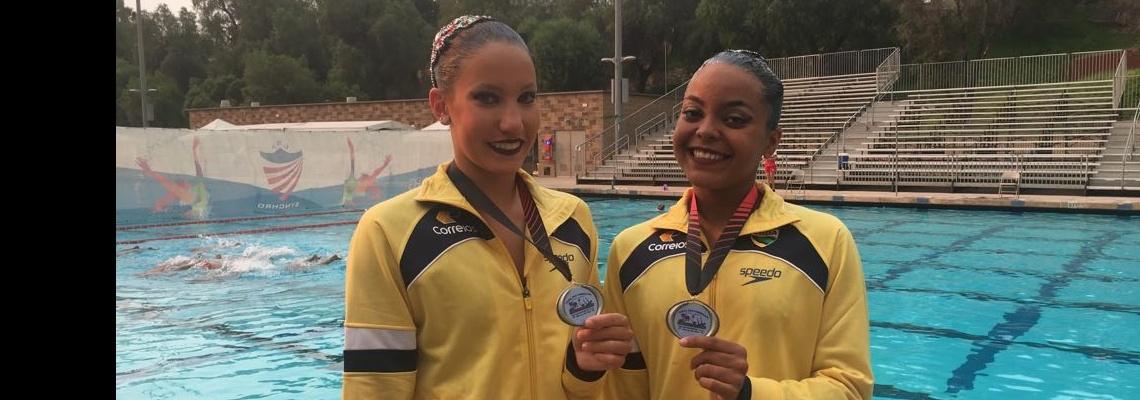 Dueto Júnior conquista a prata no Pan-Americano de Nado Artístico