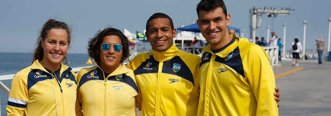 Revezamento ganha mais uma medalha de ouro na Maratona Aquática no Sul-Americano