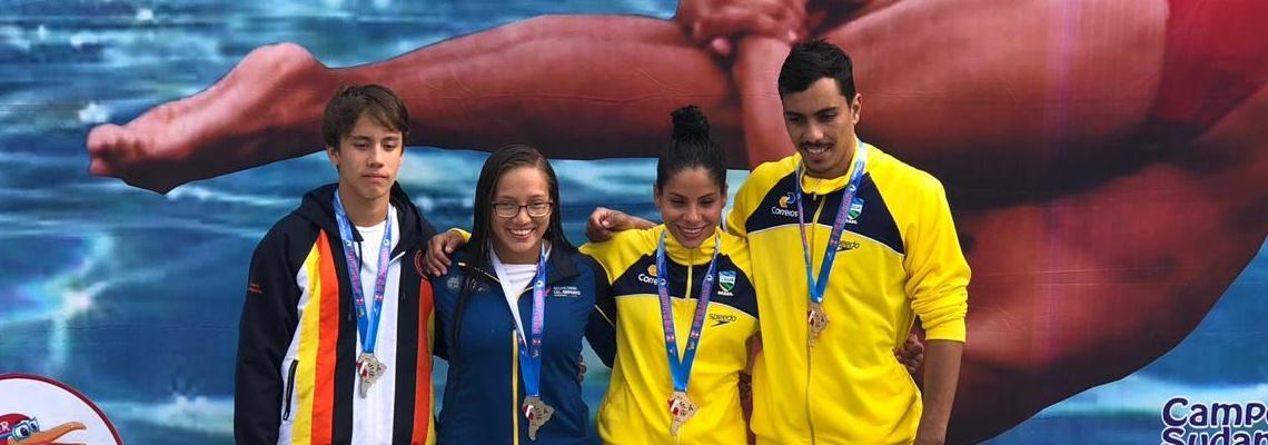 Brasil conquista ouro, prata e bronze no primeiro dia de Saltos Ornamentais do Sul-Americano