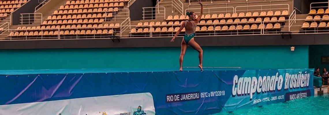 Primeiro dia de Campeonato Brasileiro de Categorias e Seletiva Nacional de Nado Artístico