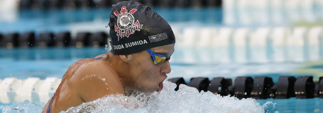 Natação - Duda Sumida bate recorde brasileiro nos 200m medley júnior 1, e André Luiz Souza vence sua prova nos 100m livre