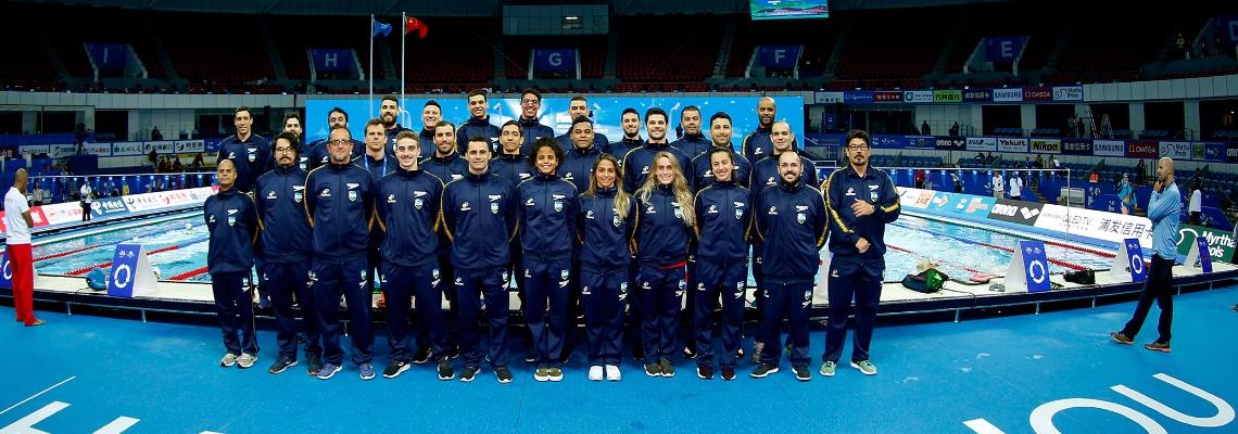 Natação - Seleção brasileira faz primeiro treino na piscina do Campeonato Mundial de Natação