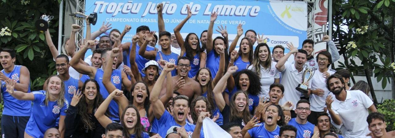 Natação - Corinthians é campeão Brasileiro Júnior de natação – Troféu Júlio de Lamare pela 4° vez consecutiva