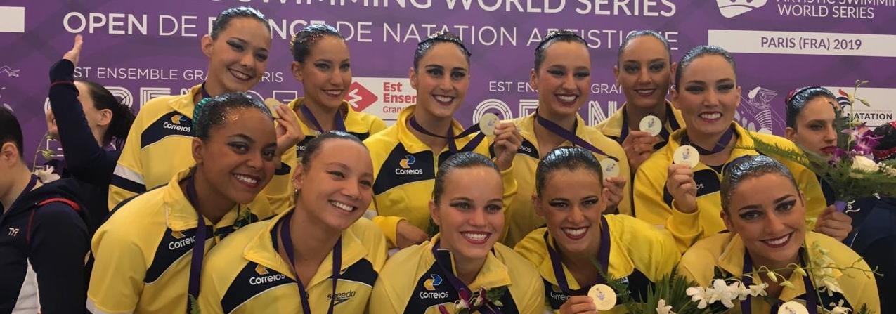 Brasil conquista quatro medalhas no Fina World Series de Nado Artístico