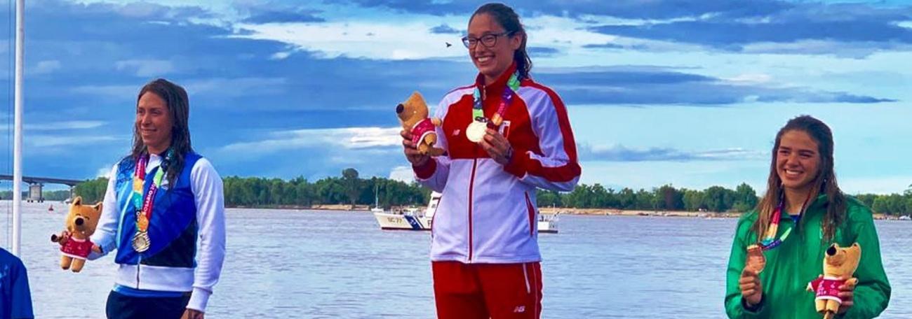 Maratonas Aquáticas - Aricia Peree conquista o bronze nos Jogos Sul-Americanos de Praia