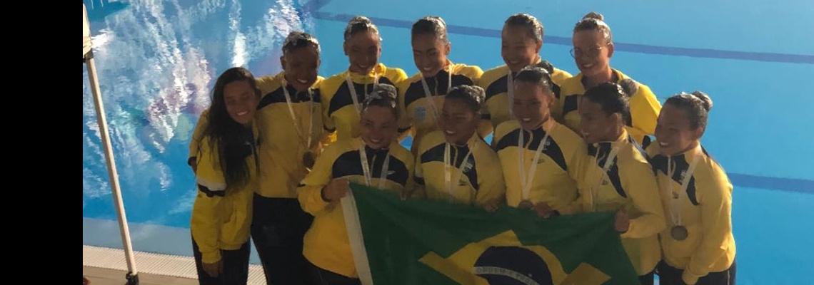 Seleção brasileira termina como campeã geral do Sul-Americano Juvenil no Nado Artístico
