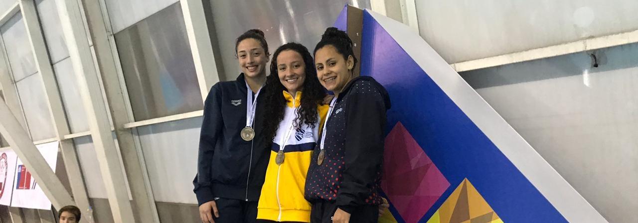 Natação conquista mais 13 medalhas no Sul-Americano Juvenil