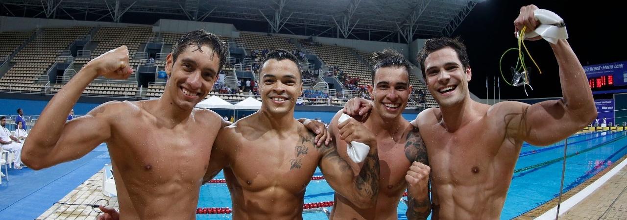 Natação - Quarteto do Pinheiros brilha e forma rezamento 4x100m livre do Brasil para Mundial