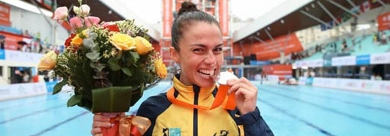 Jacqueline Valente conquista a prata na Copa do Mundo de High Diving