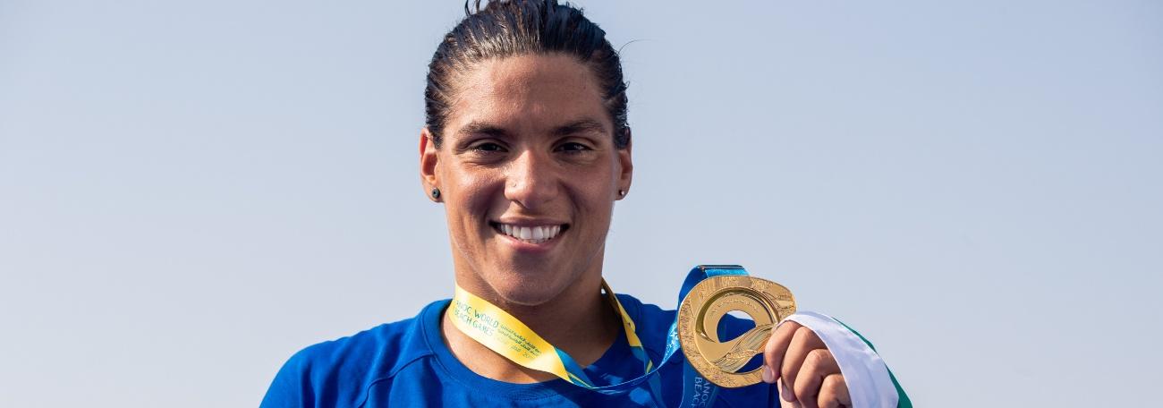 Maratonas Aquáticas - Ana Marcela Cunha confirma o favoritismo e conquista o primeiro ouro do Brasil nos Jogos Mundiais de Praia