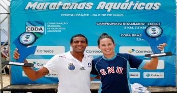 Allan do Carmo e Betina Lorscheitter vencem o Campeonato Brasileiro de 5 km em Fortaleza