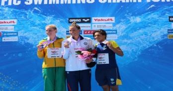 Ana Marcela é bronze na prova de Maratonas Aquáticas do Pan-Pacífico