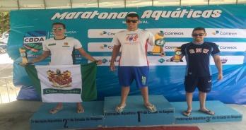 Victor Colonese e Aricia Peree vencem provas do Campeonato Brasileiro de Maratonas Aquáticas