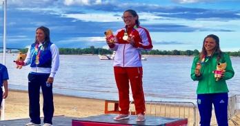 Aricia Peree conquista o bronze nos Jogos Sul-Americanos de Praia