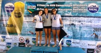 Betina Lorscheitter e Guilherme Ribeiro vencem prova de 10 km do Campeonato Brasileiro em Maceió