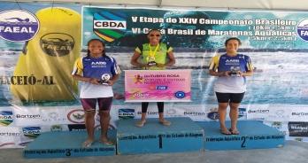 Rebeca Silva e Átila Brandão vencem prova de 5 km da Copa Brasil
